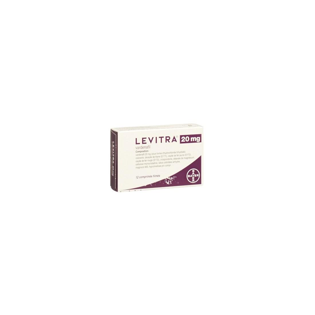 LEVITRA 20 mg 12 comprimés