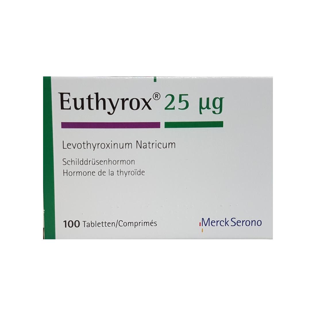 EUTHYROX 25 microgrammes (100 comprimés)